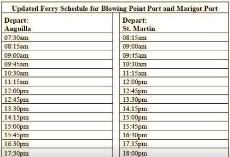 Public Ferry Schedule